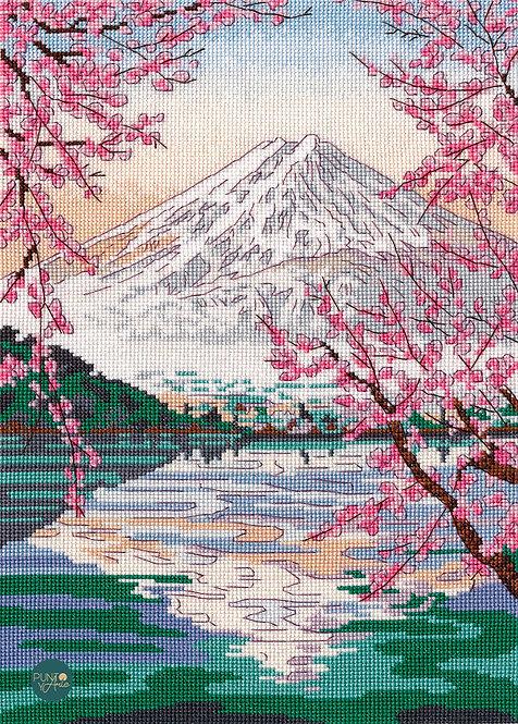 1311 Fudzijama and Kavaguti lake - OVEN - Cross stitch kit