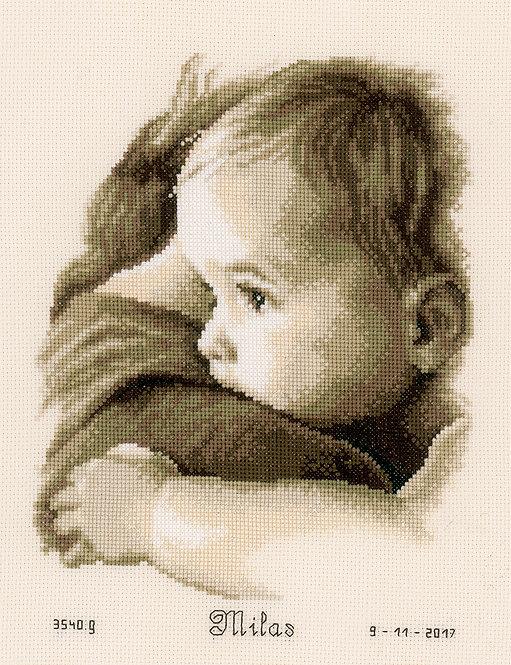 Natalicio - Abrazo de bebe - Vervaco - Kit de punto de cruz