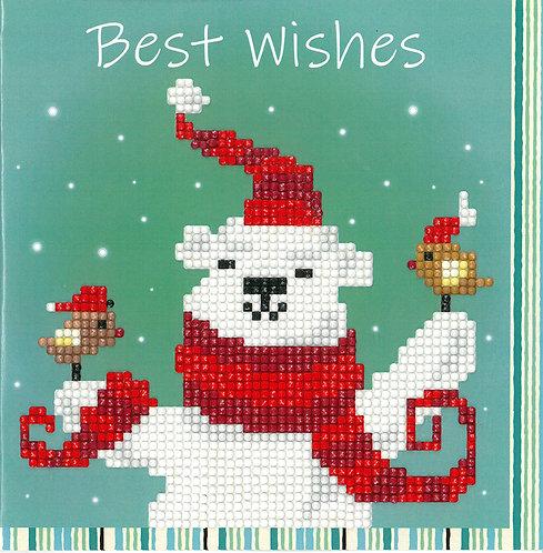 Happy Bear Greeting Card - Vervaco - Kit Punto Diamante