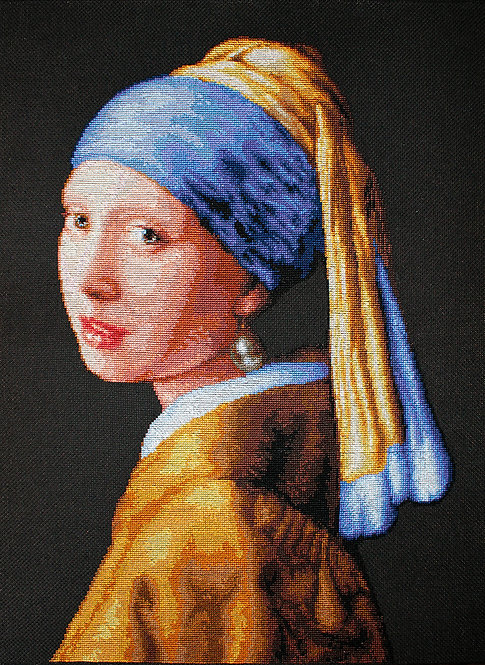 B467 La joven de la perla - Kit de Punto de Cruz Luca-S