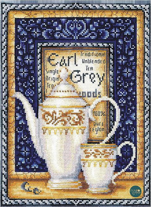 ANK-38 Colección de té - Earl Grey - Andriana - Kit de punto de cru