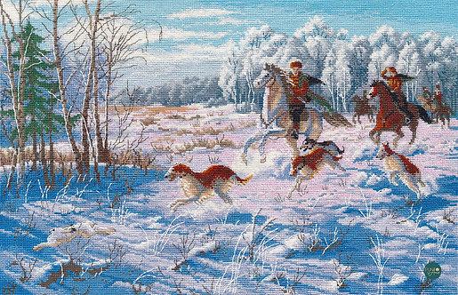 1258 Caza de invierno - OVEN - Kit de punto de cruz