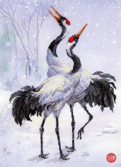 0028 PT Cranes - Riolis - Kit de punto de cruz