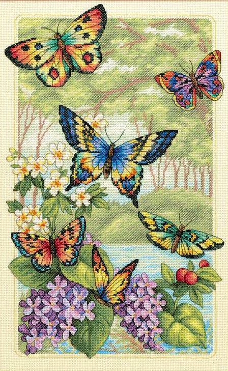 Butterfly Forest - 35223 Dimensions - Kit de punto de cruz