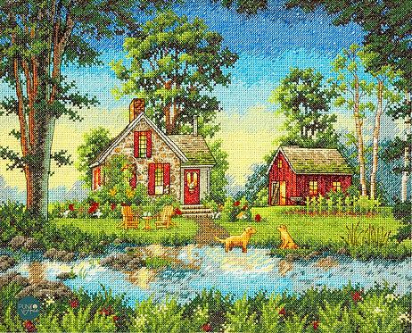 Casa de verano - 70-35340 Dimensions - Kit de punto de cruz