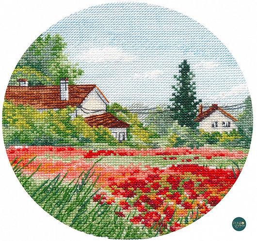 1287 Amapolas en miniatura - OVEN - Kit de punto de cruz
