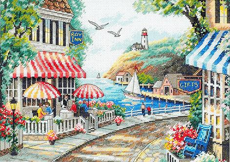 Cafe By The Sea - 35157 Dimensions - Kit de punto de cruz