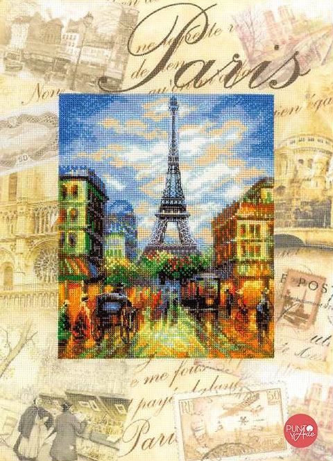 0018 PT Ciudades del mundo. París - Riolis - Kit de punto de cruz