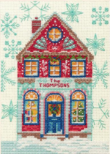 Holiday Home - 70-08988 Dimensions - Kit de punto de cruz