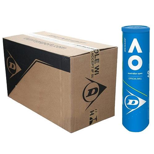 Carton de 18 tubes de 4 balles Dunlop Fort Australian Open