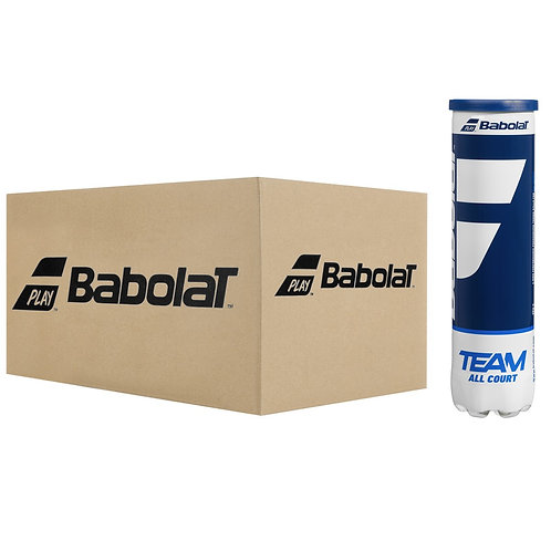 CARTON DE 18 TUBES DE 4 BALLES BABOLAT TEAM ALL COURT