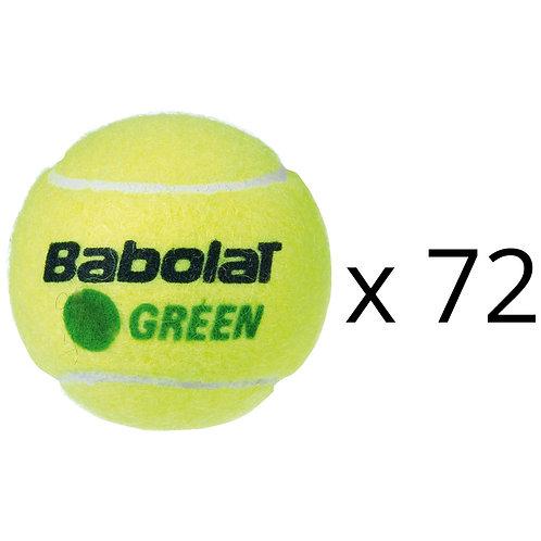 RECHARGE 72 BALLES BABOLAT GREEN