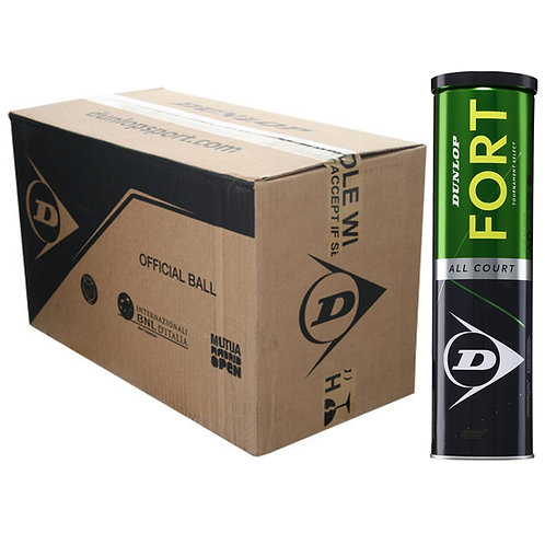 Carton de 18 tubes de 4 balles Dunlop Fort All Court