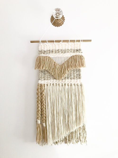 The River Haze shop. BRAID woven macrame wool wall hanging