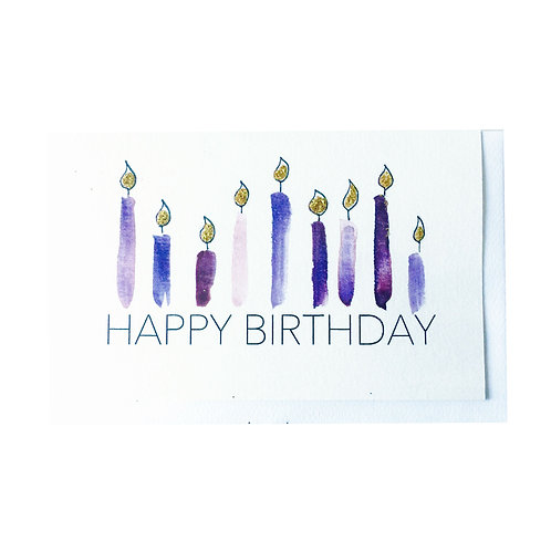 The PURPLE CANDLES Gift card