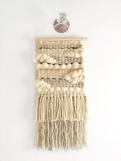 The River Haze shop. NEUTRAL CLOUDS woven macrame wool wall hanging