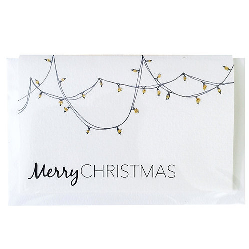 MERRY CHRISTMAS LIGHTS Gift card