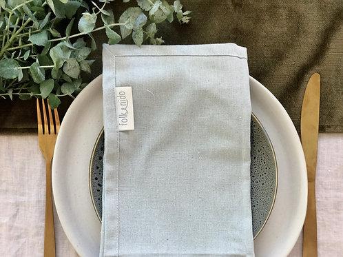 Set of 6 'DOVE' mismatched napkins