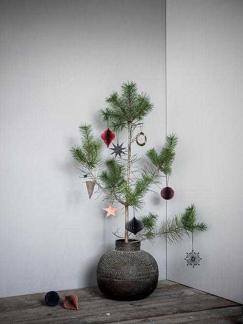 Nordstjerne - Pack of 4 Mix paper Christmas decorations