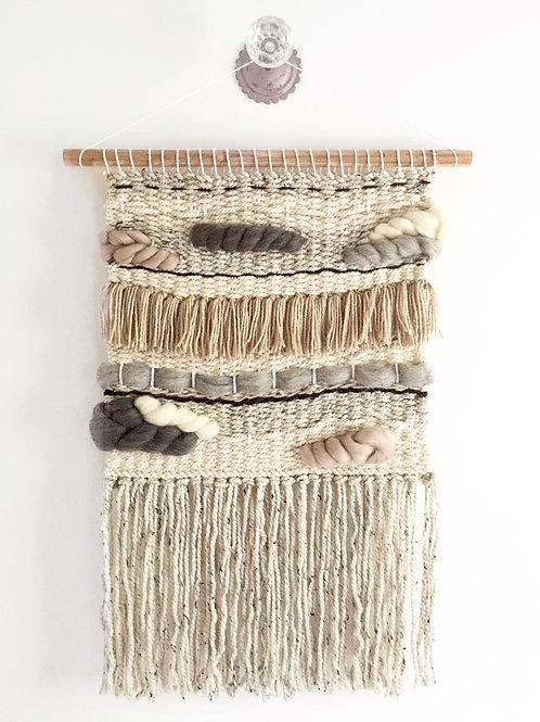 The River Haze shop. MINI STONES woven macrame wool wall hanging