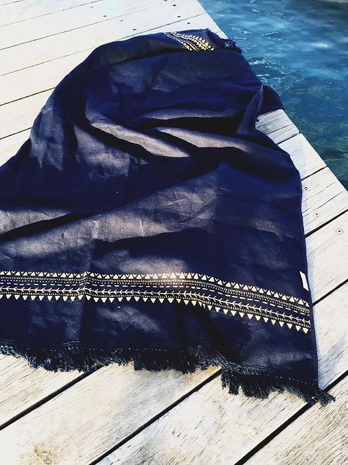 AHOY Linen beach blanket/ Linen throw