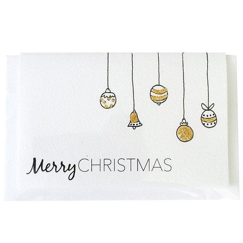 MERRY CHRISTMAS BALLS Gift card