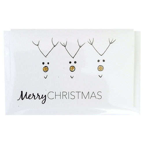 MERRY CHRISTMAS GOLD NOSE Gift card