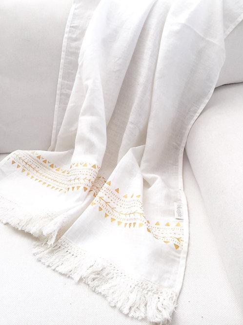 COVE Linen beach blanket/ Linen throw