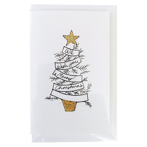 MERRY CHRISTMAS STAR Gift card