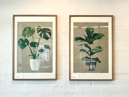 Palms #1-2 Original artwork. Set of 2