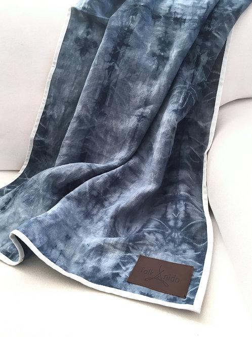 TIDE Linen beach blanket/ Linen throw
