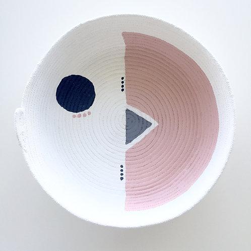 Designs by Winston. Large Rope bowl BLUSH series
