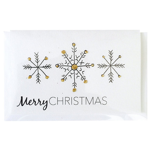 MERRY CHRISTMAS SNOW Gift card