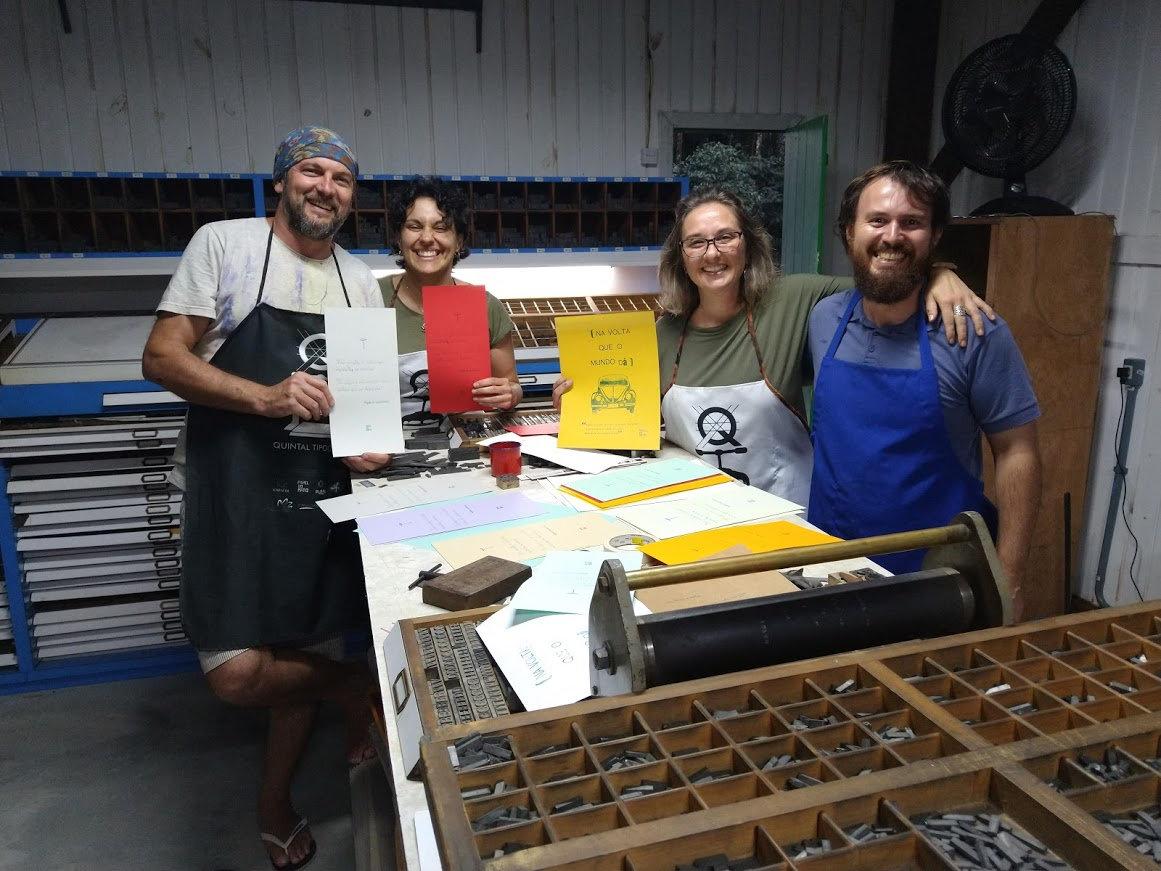Visita na Oficina museu de tipografia