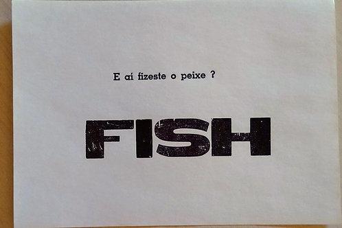 Plaquete tipográfica Fish