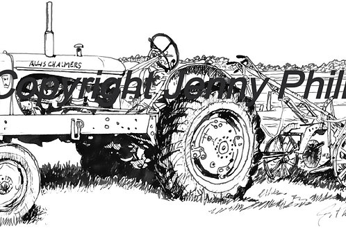 Old Allis Chalmers Tractor & Drag Plow