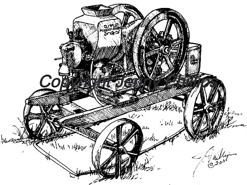 Massey Harris Engine on Steel Wheeled Sled