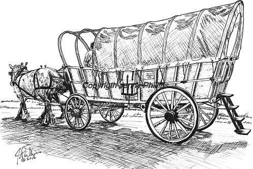 Percherons & Conestoga Wagon