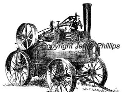 Walter Hull's Case Steam Engine