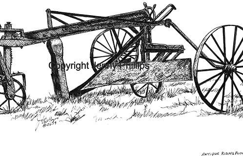 Antique Riding Plow