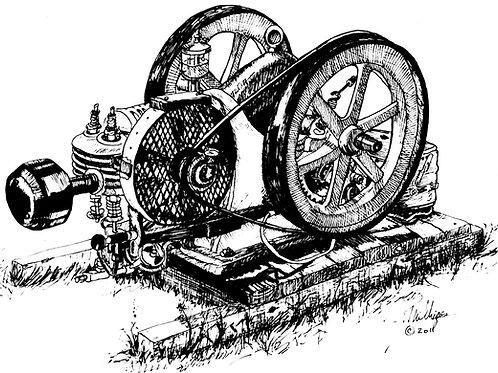 Gas Engine on Skids