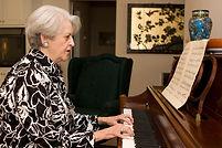 Senior adult woman in active retirement