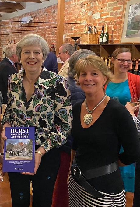 Theresa May & Jo Newbold - Hurst Archive Launch - 15 Oct 21.JPG