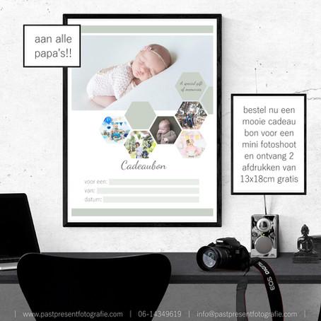 | Voor alle papa's | Geef een fotoshoot cadeau voor moederdag |