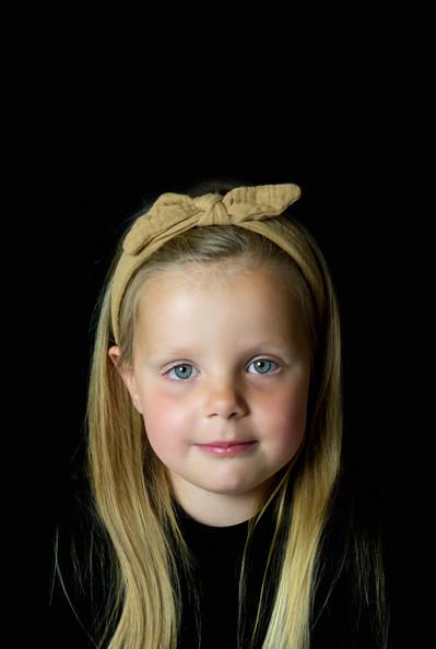 portret zwarte achtergrond