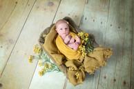 baby fotoshoot 1 maand