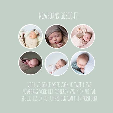 | Fotografie beurs | Newborn modelletjes gezocht|