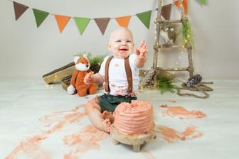Cake smash taart