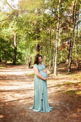 zwangerschapsshoot bos