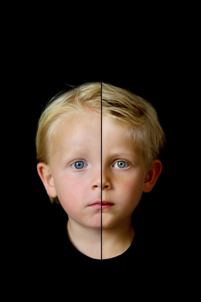 2 gezichten in 1 foto